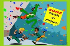 zonePAN réservée aux grimpeurs